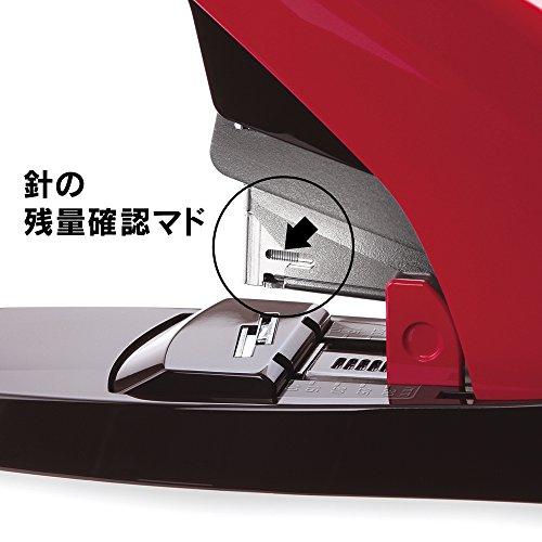 マックスMAXホッチキス卓上ホッチキスバイモ80フラット80枚レッドHD-11UFL/R