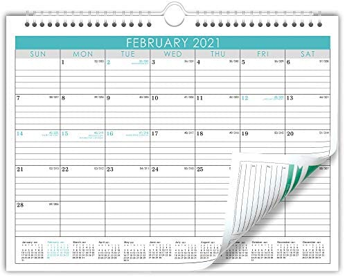 """Wall Calendar Jan 2021- Jun 2022,18 Monthes Academic Monthly Desk Calendar with to Do List Planner on Back, Twin Wire Hanger, 15"""" x 11.5"""""""