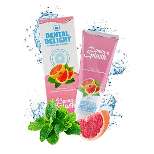 DENTAL DELIGHT Sunny Splash | fruchtige Zahnpasta Grapefruit-Minze Geschmack | klimaneutral ohne Mikroplastik