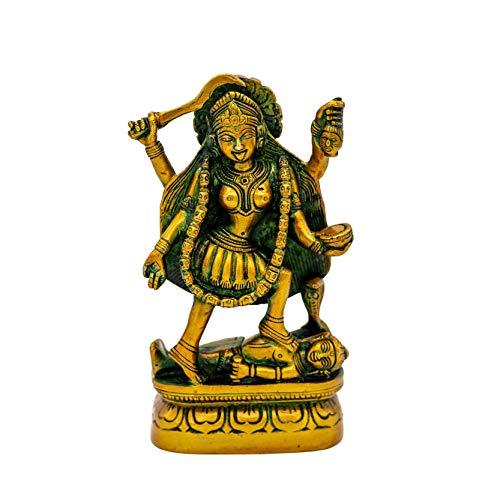 dsnetz Ma Kali Figur Messing 15 cm Indische Göttin Hinduismus Dekofigur Religiöse Idol Maa Kalika Statue | Esoterik Geschenke günstig online kaufen