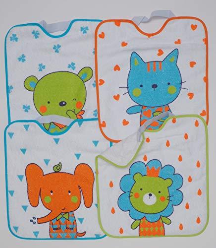Ti-Tín, lot de 3 bavoirs imperméables pour enfant | 100% polyester microfibre | Avec élastique |...