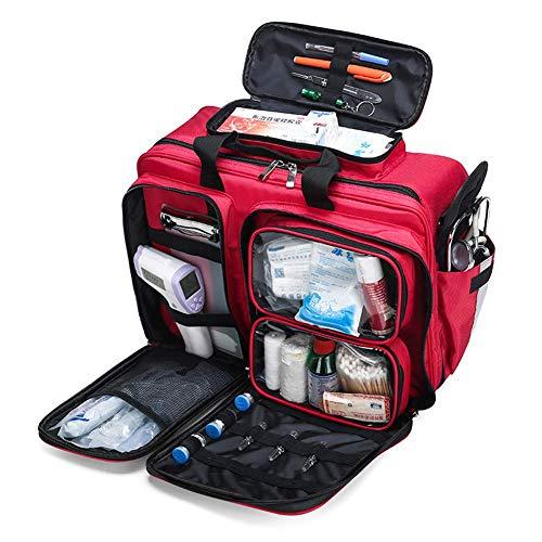 Manualks Erste-Hilfe-Rucksack Tasche Leerer Notfall Rote Erste-Hilfe-Rucksäcke, großvolumiges wasserdichtes Notfall-Rettungsset für den Außenbereich