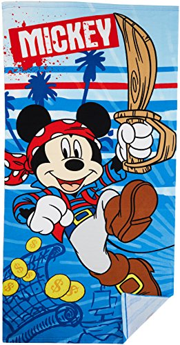 MICKEY - Telo da spiaggia pirata, da ragazzo, blu (Blue 2), taglia unica (taglia produttore: TU)