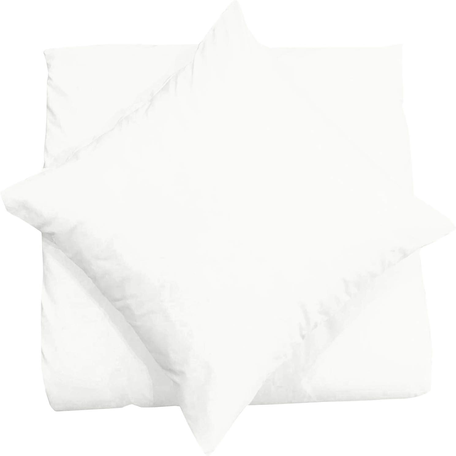 Mixibaby Juego de 2 fundas de coj/ín 40 x 40 cm, 100/% algod/ón color turquesa