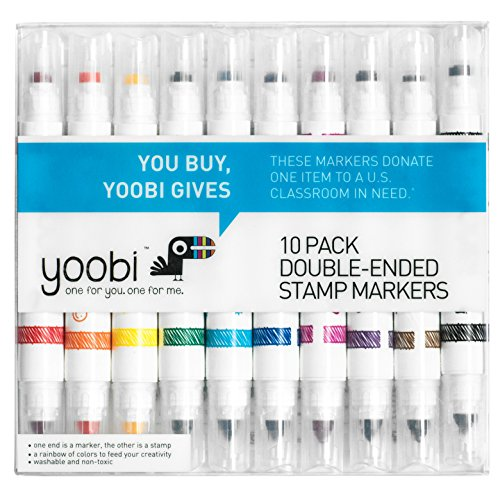 Double Ended Stamp Markers 10ct - Yoobi