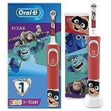 Oral-B Kids Cepillo de dientes eléctrico recargable por Braun, 1 asa y 1 funda de viaje con Disney Best of Pixar, para edades 3 +