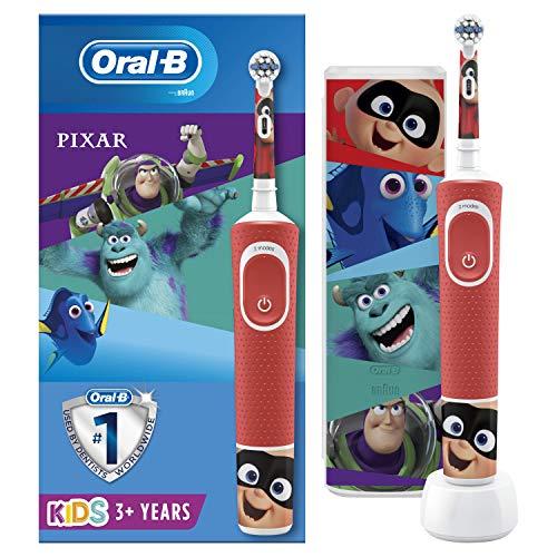 Oral-B Braun Elektrische Zahnbürste für Kinder, wiederaufladbar, 1 Griff und 1 Reiseetui mit Disney Best of Pixar, für Kinder ab 3 Jahren, 2-poliger UK-Stecker