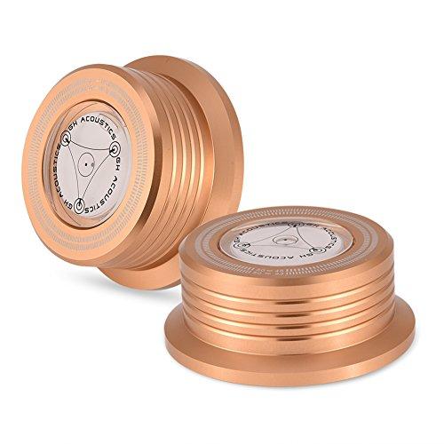 Record klem, record stabilisatie klem, 50 Hz draaitafel-vinyl draaitafel Ingebouwde precisie waterpas voor LP-vinyl draaitafel (goud)