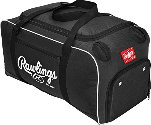 "Rawlings Covert Player Duffle Bag, Black, 26"" L x 13"" W x 13"" H (Covert-B-RAW)"