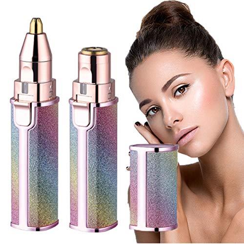 Xpzz Épilateur à sourcils, portable et lumineux pour femme, rasoir épilateur 2 en 1 et tondeuse visage (sans batterie)
