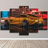 AWER Cuadros Modernos Impresión de Imagen Artística Digitalizada   Lienzo Decorativo para Tu Salón o Dormitorio   Impresión de coche amg   5 piezas de lienzo de arte de pared 200x100cm XXL