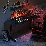 EUREKA ERGONOMIC Schreibtisch Computertisch PC Tisch Höhenverstellbarer Schreibtisch 60'' Großer Stabiler und Einfacher PC Computertisch mit Gaming Mauspad für das Home Office Schwarz - 7