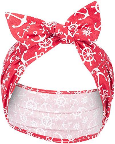 Küstenluder Damen Christl Sailor Anker Haarband Tuch Länge ca. 77cm, Breite 5cm - 15cm