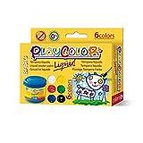 Instant Gouache Témpera Playcolor Liquid 40ml 6 Colores, Variados, 6 (19931)