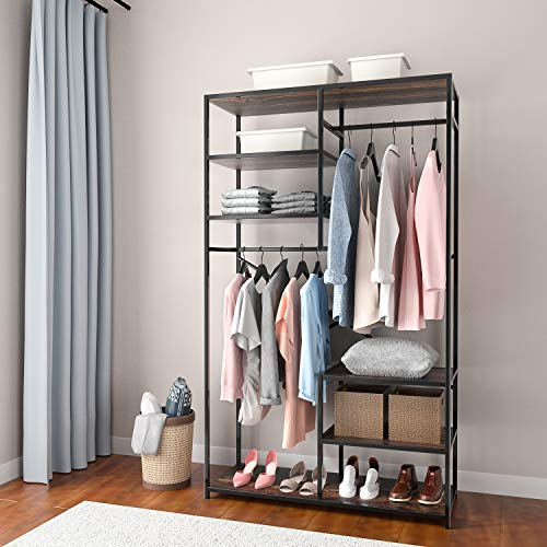 Easy Track Deluxe Tower Closet Storage Wall Mounted Wardrobe Organizer Kit System with Shelves and Drawers, White