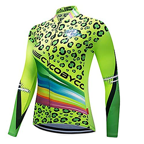 21Grams Women's Long Sleeve Cycling Jersey Winter Plus Size Bike Sweatshirt Jersey Top Reflective Strips Sports
