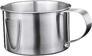 Cabilock Separador de Sopa de Aceite de Acero Inoxidable Filtro de Grasa Tazón de Filtro de Salsa para Cocina Casera