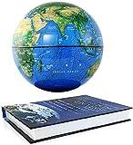 JNMDLAKO Living Equipment Globe Ornament Desktop Auto Rotating Earth Globe Antigravedad Flotante Globos del Mundo Levitación magnética Artesanía para Navidad Regalo de año Nuevo Globo del Mundo