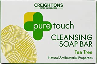 Pure Touch Cleansing Soap Bar 75g - Triple-milled soap formulated with Tea Tree known for is natural antibacterial propert...