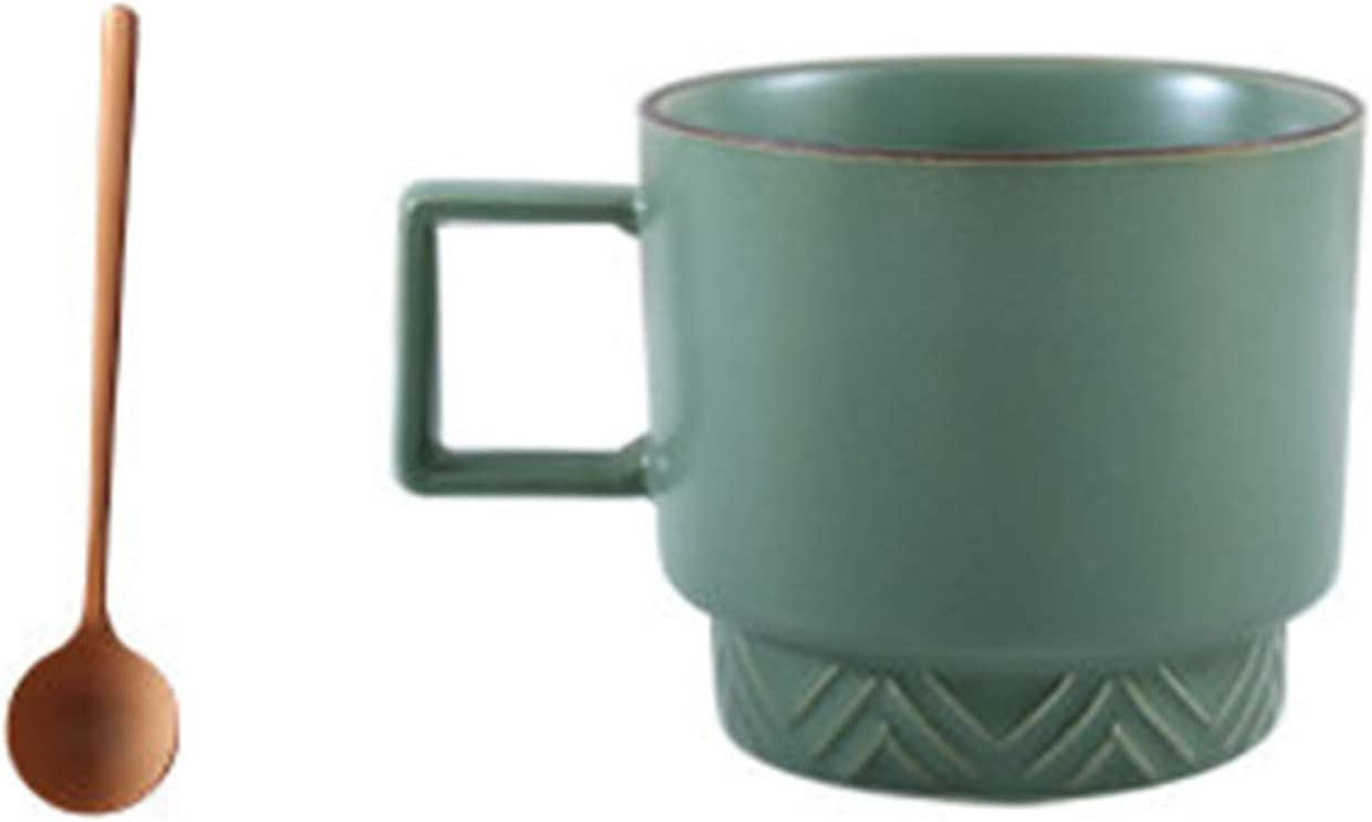 RBS Limited time trial price Geometric Light Luxury Ceramic Cup Emerald Coffee 67% OFF of fixed price Mug Color