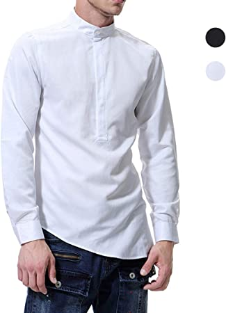 X&Armanis Camisa de Cuello Alto para Hombre, Camisa ...