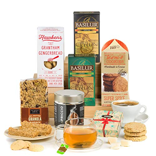 Hay Hampers Morning Break, Tea, Coffee & Biscuits Hamper Box- FREE UK Delivery