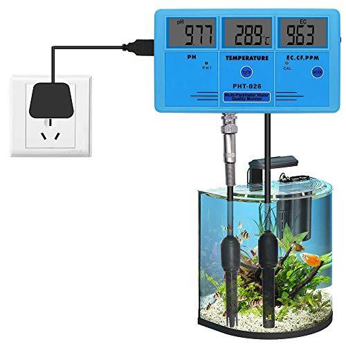 SZLX Monitor de Calidad del Agua multiparámetro PHT-026, medidor de pH, Detector de conductividad de Temperatura TDS, Herramienta de análisis de medición en línea para acuarios