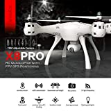 Dailyinshop Syma X8PRO 720P WiFi Caméra FPV Realtime Positioning GPS Quadcopter RC Drone, Blanc