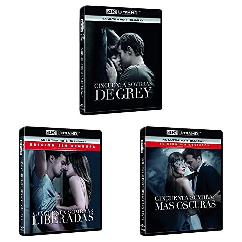 Pack Cincuenta Sombras 4K UHD + BD [Blu-Ray] - 3 Películas