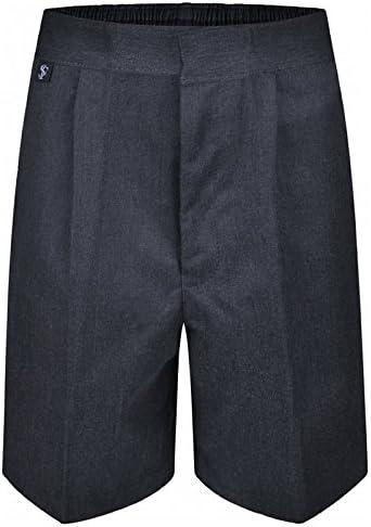 Westwood Boys Zip Up School Shorts Elasticated Black Grey Navy Age 2 3 4 5 6 7 8 9 10 11 12 13 14
