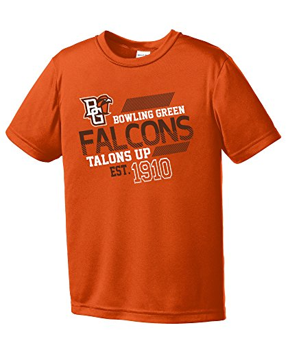 NCAA Bowling Green Falcons Youth Boys Offsides Short sleeve Polyester Competitor T-Shirt, Youth Large,Orange