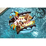 Flotador cisne L inflable para piscinas multicolor marca BEACH TOY