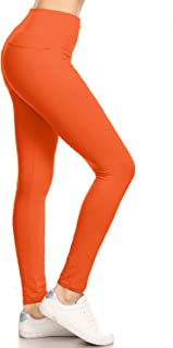 High Waisted Solid Yoga Leggings