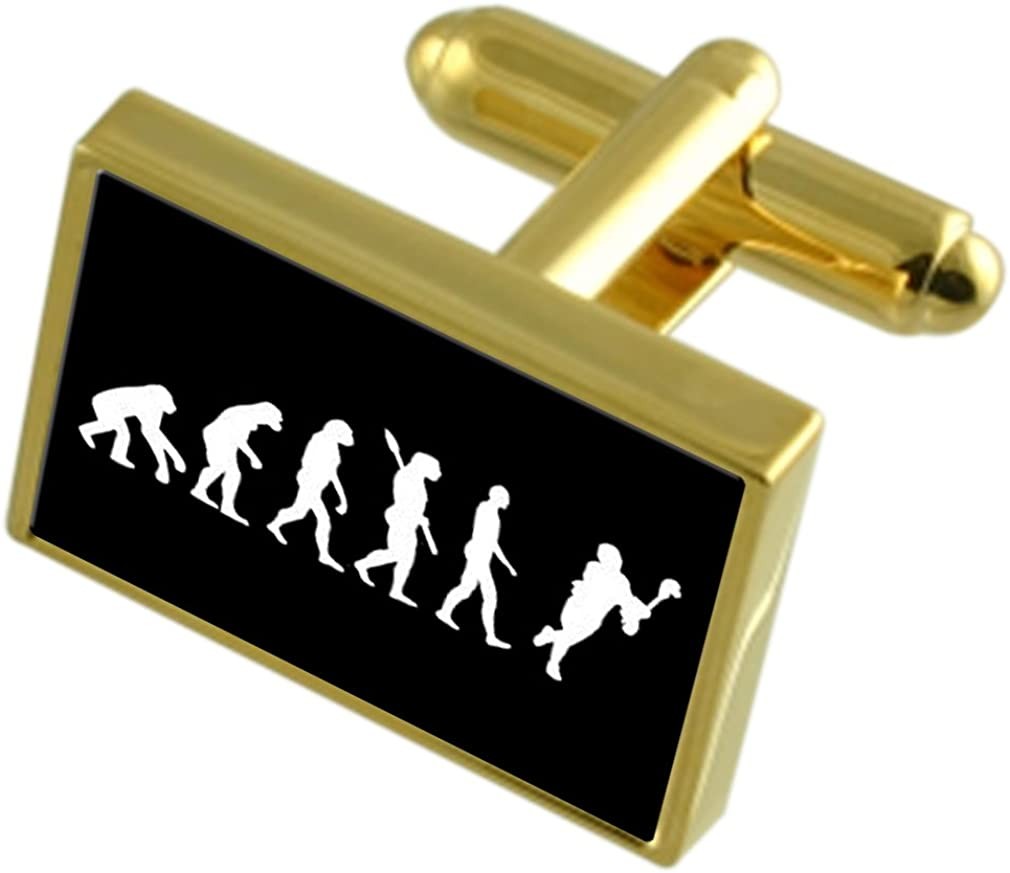 Select Gifts Evolution Ape to E Gold-Tone Max 47% OFF Cufflinks Man Super-cheap Lacrosse