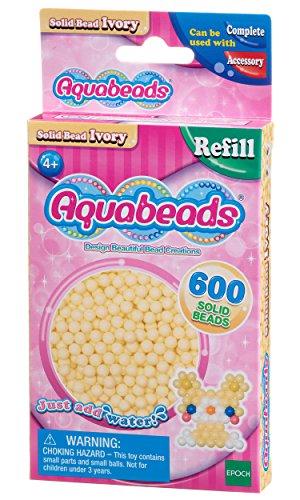 Aquabeads - Recharge Perles Ivoire - 32628 - Recharge Couleur - Loisirs Créatifs