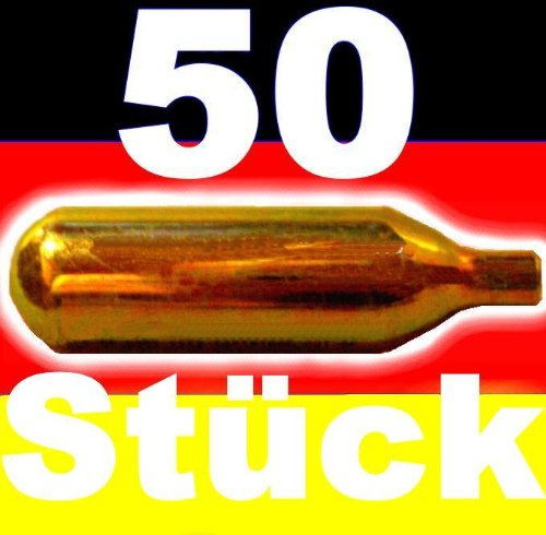 50 Stück Bierkapseln Co2 für alle Bierzapfanlagen mit 16g Kohlensäurekapseln wie Biermaxx Zapfprofi etc