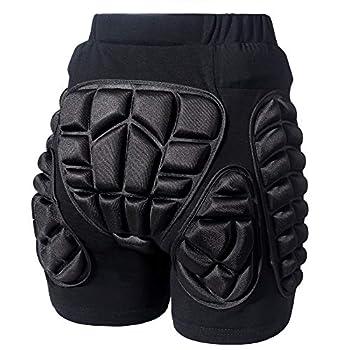 Legendfit Protective Padded Shorts for Ski Snowboard Skate Hip Butt Protection X-Large Black