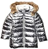 Spotted Zebra Long Puffer Coat Infant-and-Toddler-Down-Alternative-Outerwear-Coats, Plateado metálico, 4T