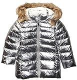 Spotted Zebra Girls' Kids Long Puffer Coat, Silver Metallic, X-Large