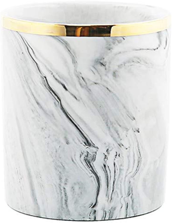 WM pen Stifthalter Keramik Marmoriert Gold Zahnbürste Tasse Goldrand Goldrand Goldrand Make-Up Pinsel Aufbewahrungsgefäß Vase B07KQWGJZQ | Hochwertig  1e50c4