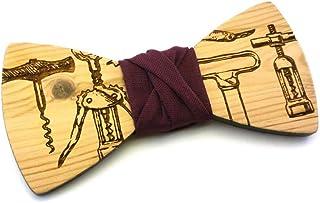 Papillon legno GIGETTO Sommelier Cavatappi Nodo Prugna Made in Italy