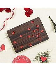 Webelkart Wooden DIY Photo Album Scrapbook Memory Book (26 x 16 x 4 cm) 30 Sheets