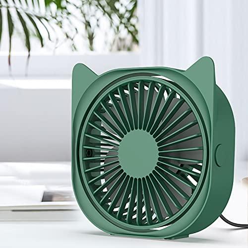 NINOMI Ventilador USB PortáTil, Mini Ventilador De Escritorio RotacióN De 360 ° 3 Velocidades De Viento Ventilador De Mesa Personal PequeñO Y Silencioso para Un Trabajo Resistente Dormir
