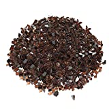 Copper Fire Glass, 25 Pounds of ½ In. Premium Tempered Fire Pit Glass, Reflective Fireglass for Fire Pit, Fire Table, Fireplace, Natural Gas and Propane, Fire Glass Pellets Rocks, High Luster Glass