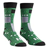 Sock It To Me Circuit Board Mens Crew Socks OS,Green,One Size