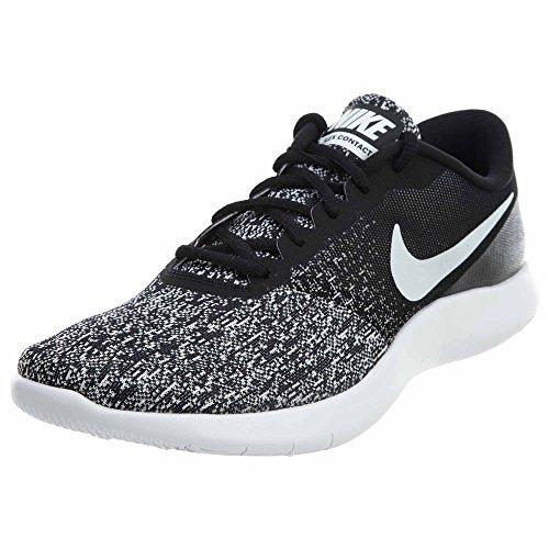 Nike Men's Flex Contact Running Shoes (Black White Size 10 D(M) US)