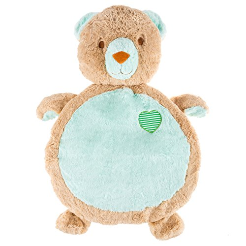 Happy Trails Bear Baby Play Mat- Soft Infant/Toddler Stuffed Animal Floor Cushion Friend for Tummy Time