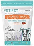 PETIPET Calming Bars for Dogs - Anxiety Composure Relief - With Carrots, Apples, Hemp, Chamomile, Passion Flower - for Dog Stress & Separation Aid in Fireworks, Thunder + Chewing & Barking 180 Treats