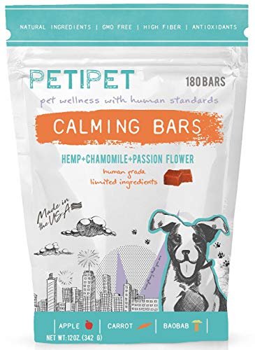 PETIPET Calming Bars for Dogs - Anxiety Composure Relief - With Carrots,...