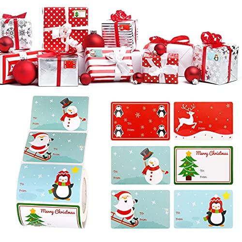 Etiquetas Regalo Navidad Nombre Marca Hileyu